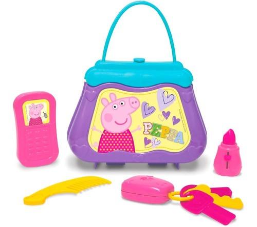 Peppa Pig Boneca Brinquedo Bolsa Com Acessórios - Elka