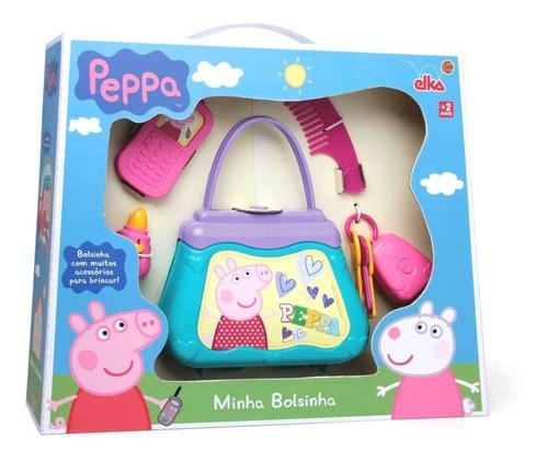 Minha Bolsinha Peppa Pig - Bolsa Pepa Batom Chaves Celular