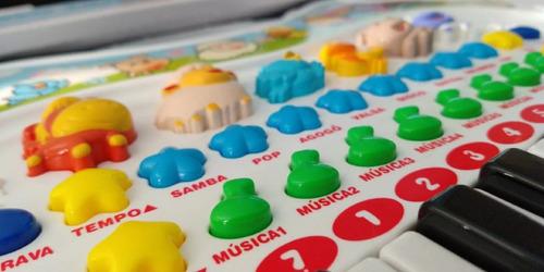 Piano Infantil Musical Brinquedo Teclado Educativo Bebe