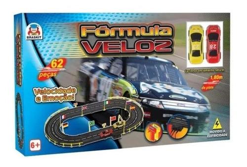 Pista Autorama Carrinho Fórmula Veloz 2 Carros Brinquedo