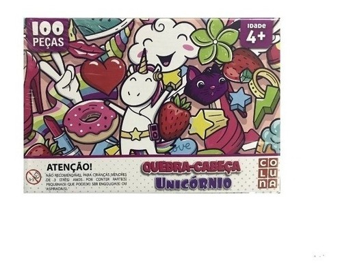 Quebra Cabeça Infantil 100 Peças Unicórnio - Coluna