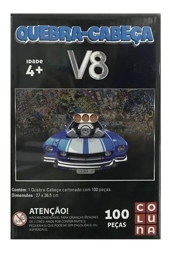 Quebra Cabeça infantil carro V8 100 Peças Brinquedo Coluna