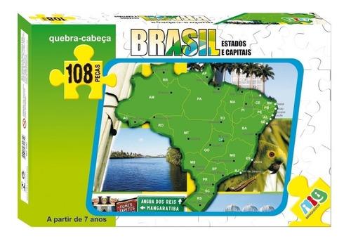 Quebra Cabeça Infantil Escolar Corpo Sistema Solar Brasil
