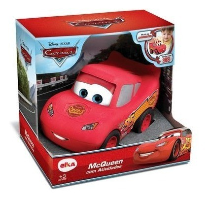 Relâmpago Mcqueen Carrinho Brinquedo Carros com Atividades Elka