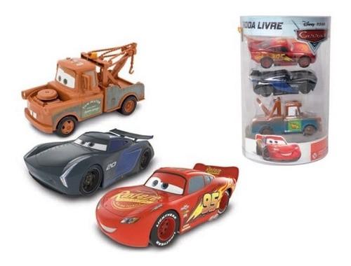 Relâmpago Mcqueen Kit 3 Carrinhos Brinquedo Original Carros