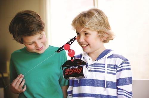 Teleférico De Latinha Brinquedo Educativo Robótica 4m