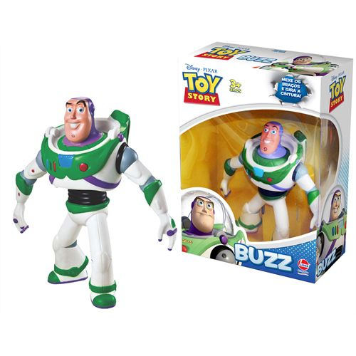 Toy Story Buzz  lightyear Astronauta Articulado Boneco Brinquedo 18cm - Lider