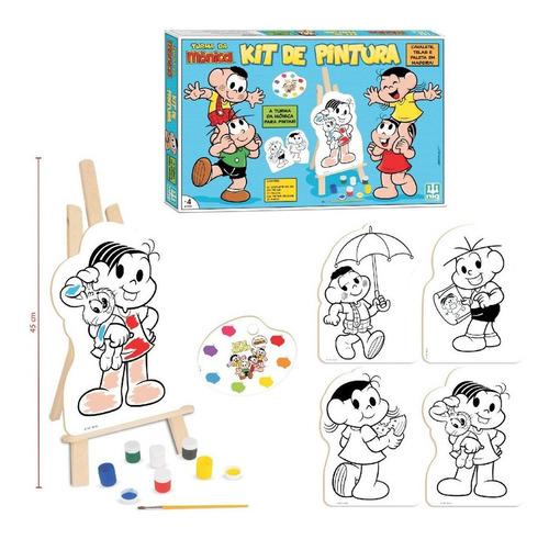 Turma Da Mônica Pintura Infantil Cavalete Tintas Colorir