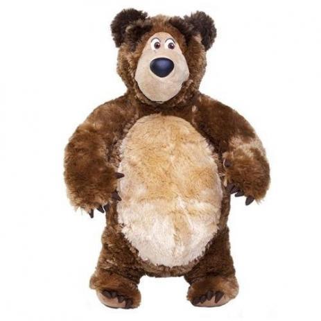 Pelúcia Urso da Masha Brinquedo Masha e Urso - Estrela