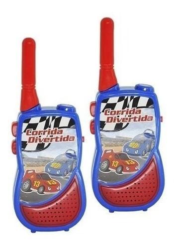 Walkie Talkie Infantil Rádio Comunicador Brinquedo Lanterna