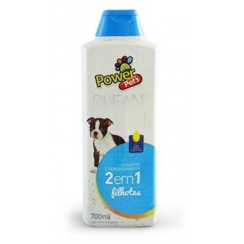 Shampoo e Condicionador Power Pets Cão e Gato Filhote 700ml