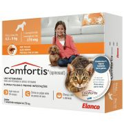 Antipulgas Elanco Comfortis 270 mg para Cães de 4,5 a 9 Kg e Gatos de 2,8 a 5,4 Kg