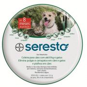Coleira Antipulgas e Carrapatos Bayer Seresto Cães e Gatos até 8kg