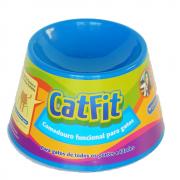 Comedouro Funcional Petgames Cat Fit para Gatos Azul