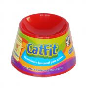 Comedouro Funcional Petgames Cat Fit para Gatos Vermelho