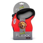 Guia de Fita Retrátil Power Flexx para Cães Até 50kg - 5 metros