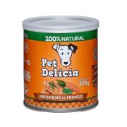 Ração Pet Delícia Cães Jardineira de Frango Lata 320g