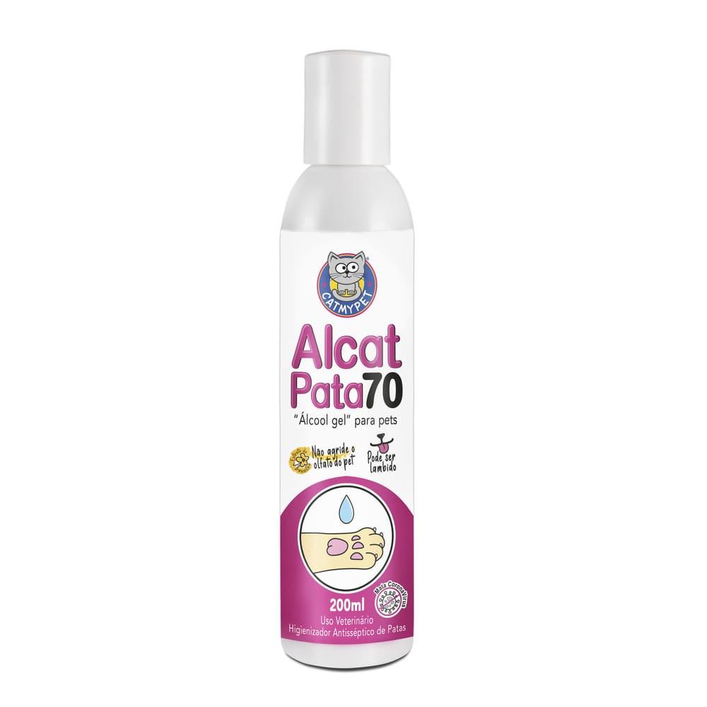 Alcat Pata 70 - Álcool Gel para Pet  CatMyPet( Higienizador antisséptico de patas )