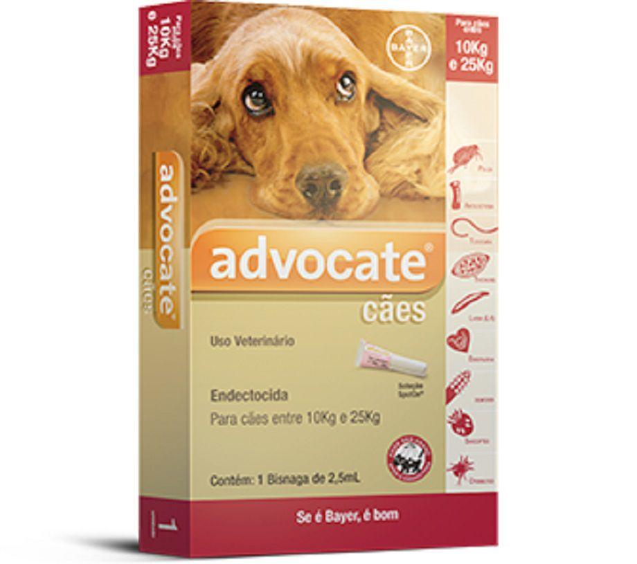 Antipulgas Bayer Advocate para Cães de 10kg a 25kg