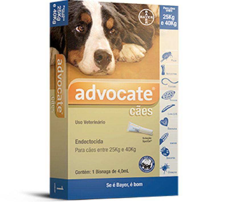 Antipulgas Bayer Advocate para Cães de 25kg a 40kg