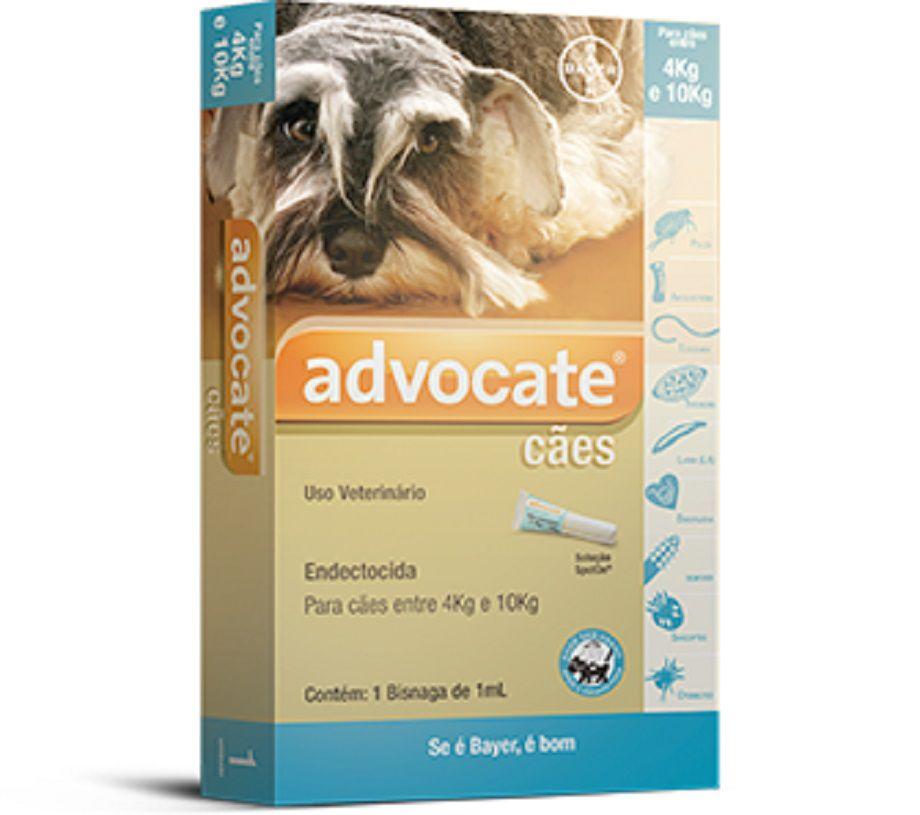Antipulgas Bayer Advocate para Cães de 4kg a 10kg