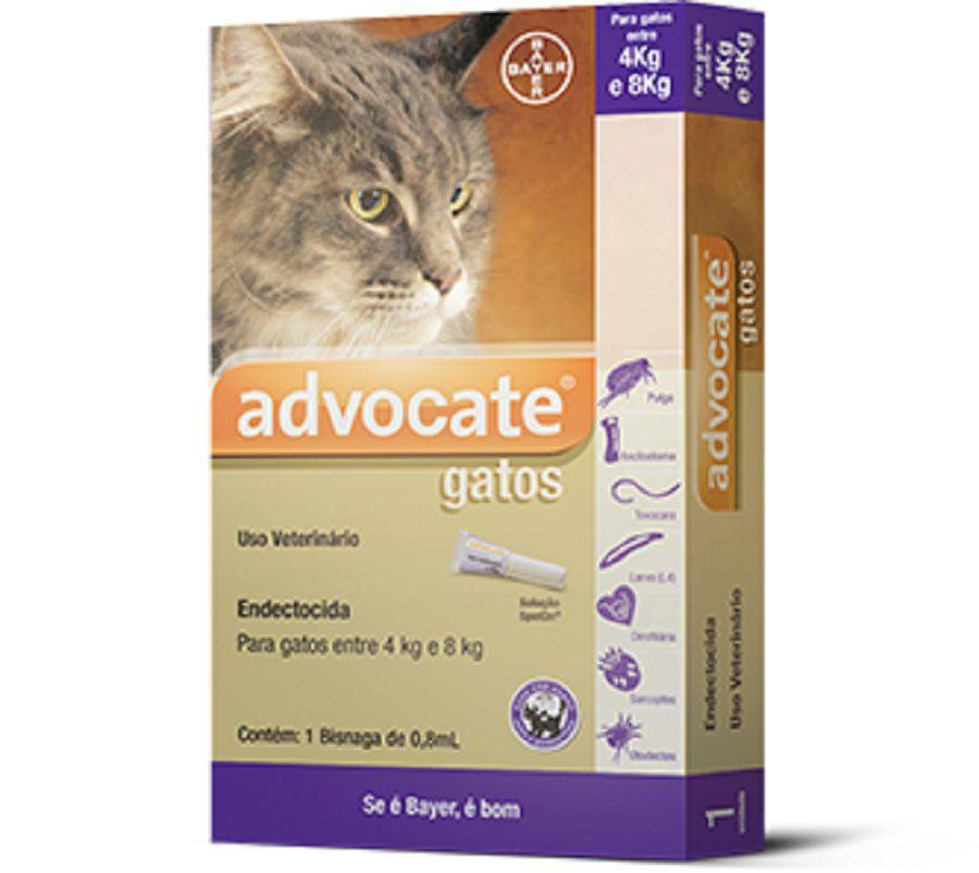 Antipulgas Bayer Advocate para Gatos entre 4kg e 8kg
