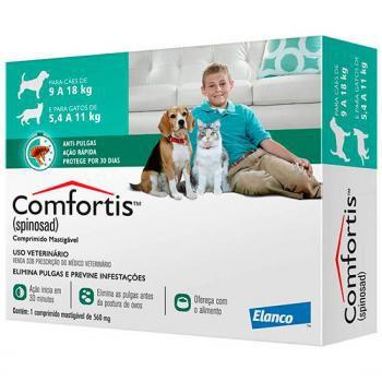 Antipulgas Comfortis 560mg Cão 9a18kg Gato De 5,5a11kg 1 uni