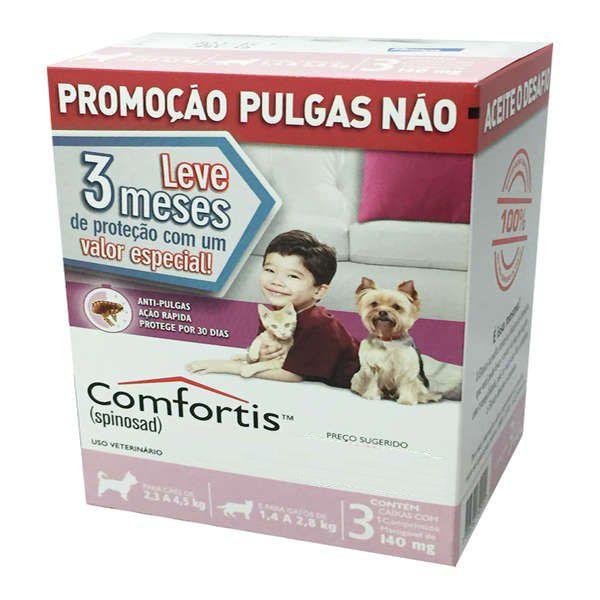 Antipulgas Elanco Comfortis 140 mg para Cães de 2,3 a 4 Kg e Gatos de 1,9 a 2,8 Kg