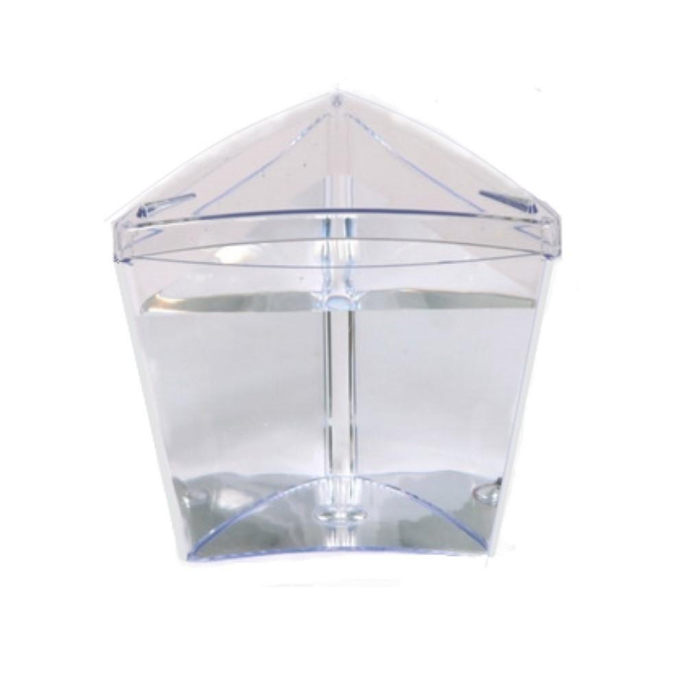 Aquário Betteira Betta Home Triangular Acrílico Cristal 1L