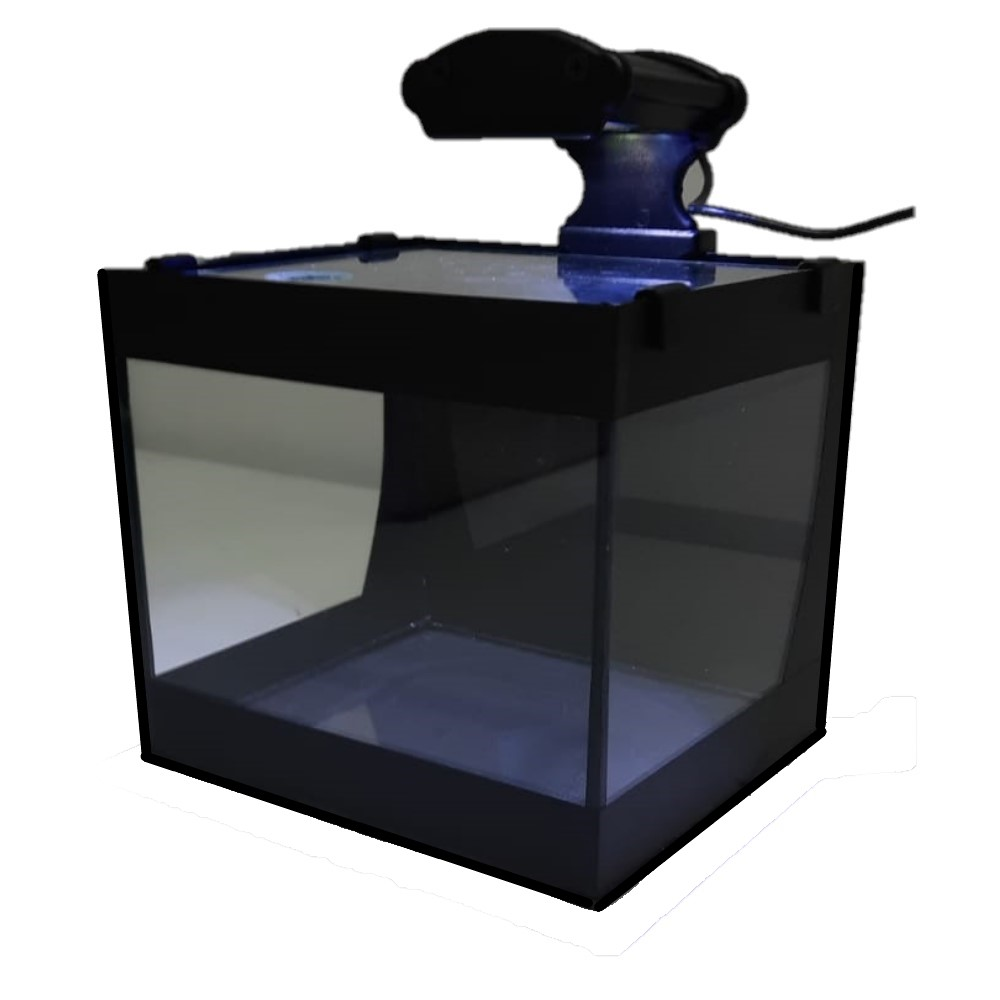 Aquário Betteira com Iluminação LED Bivolt e Decoração