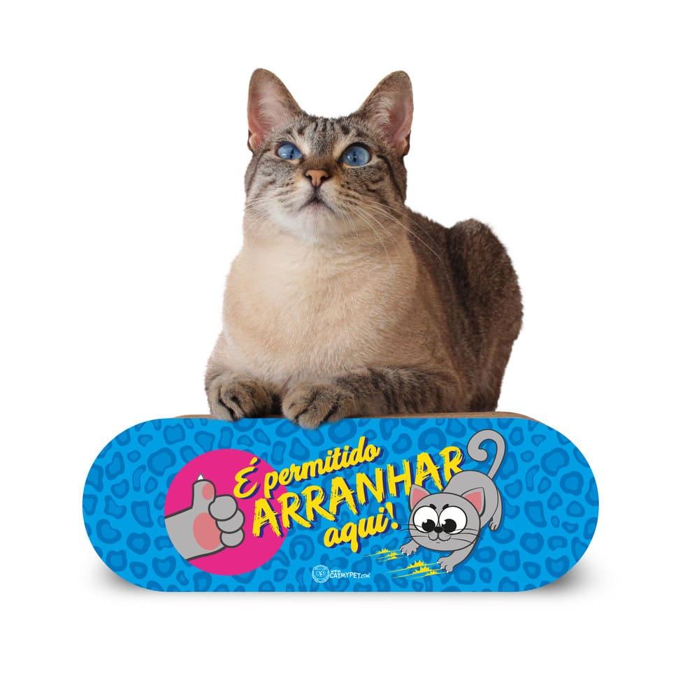 Arranhador Portátil para Gatos CatMyPet Arranhadinho com Catnip