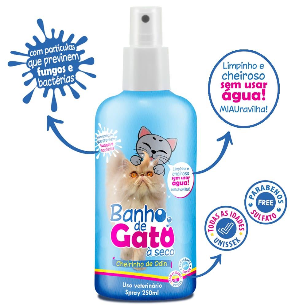 Banho a Seco para Gatos em Spray CatMyPet Cheiro de Odin 250ml