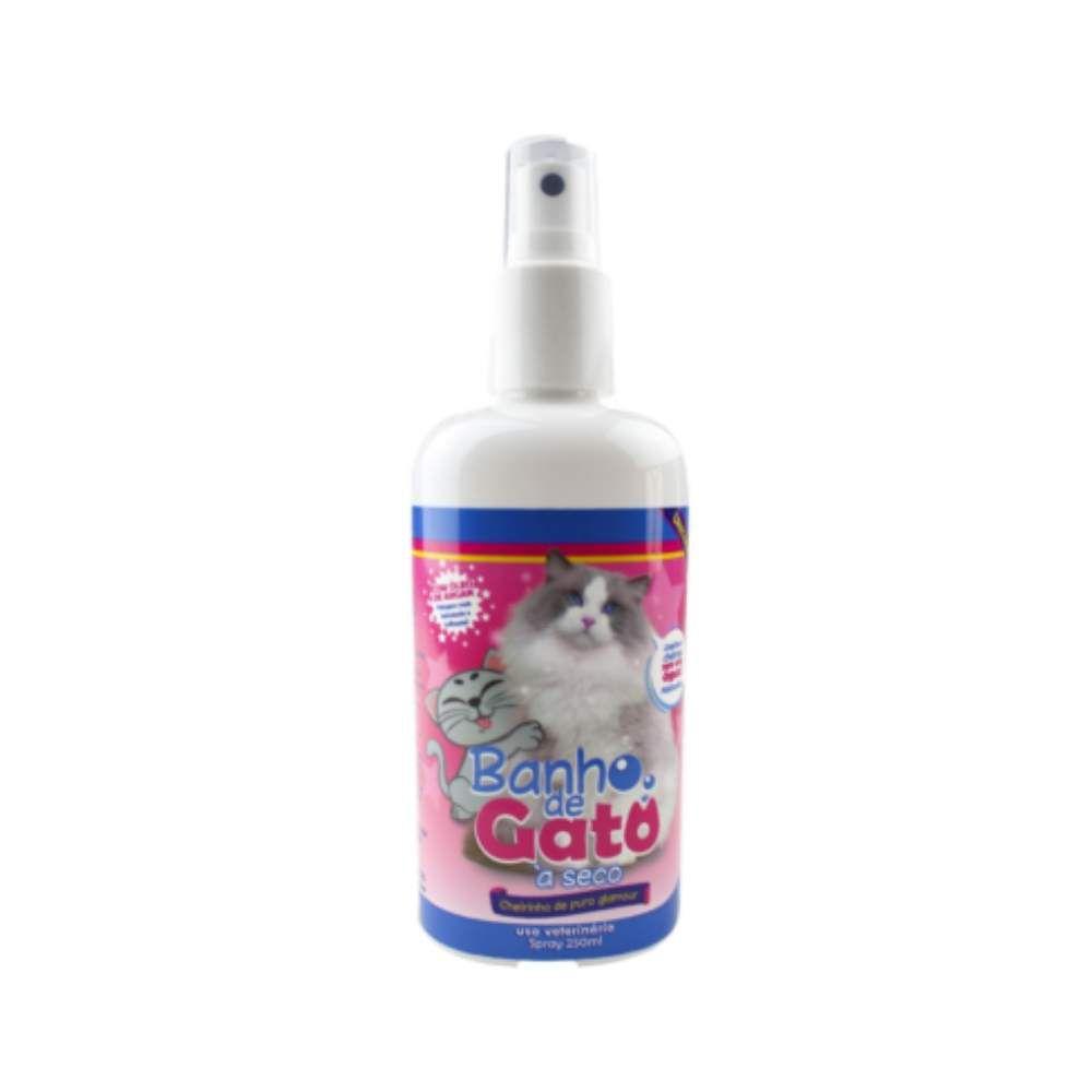 Banho Seco Catmypet Gatos Spray 250ml Puro Glamour