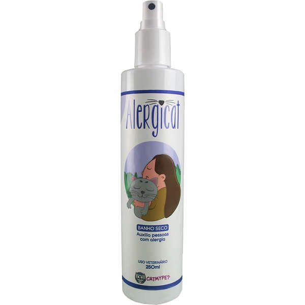 Banho Seco Loção Antialérgica CatMyPet Alergicat Gatos 250ml