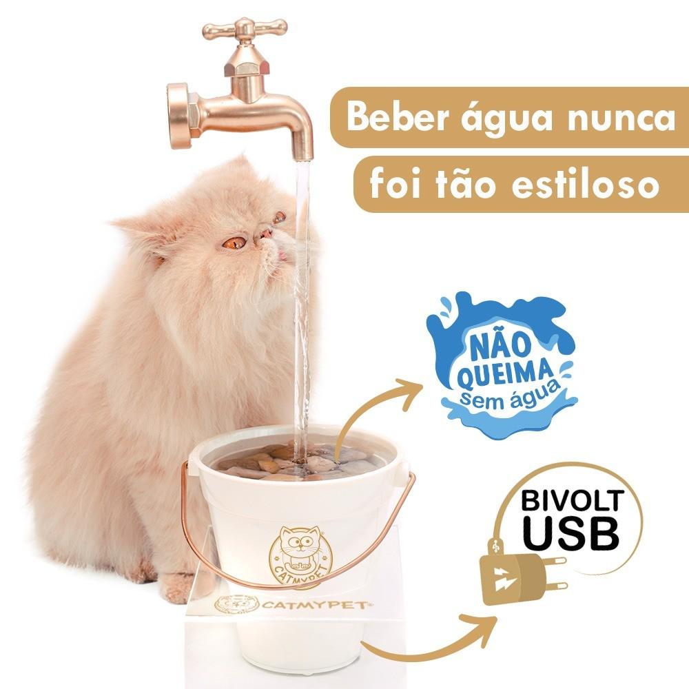 Bebedouro Para Gatos Toneira Mágica Magicat CatMyPet Gold NOVO MODELO BIVOLT