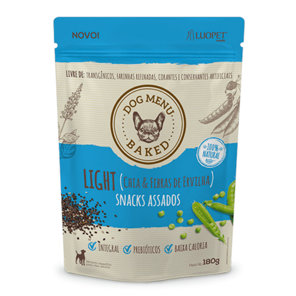 Biscoito Luopet Dog Menu para Cães Adultos Light 180g
