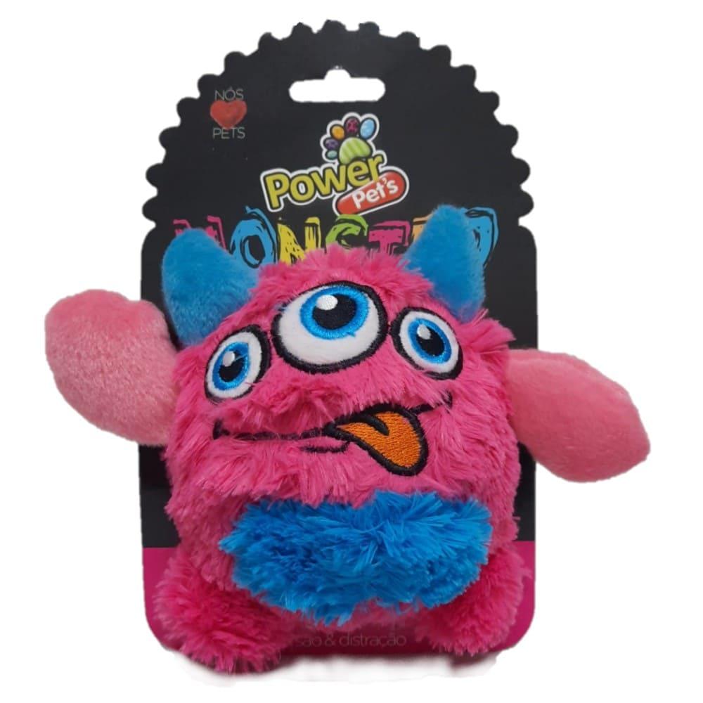 Brinquedo de Pelúcia para Cães Power Pets Monster Rosa Médio