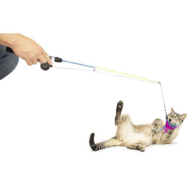 Brinquedo Gatos CatMyPet Varinha Pesca Gatinho