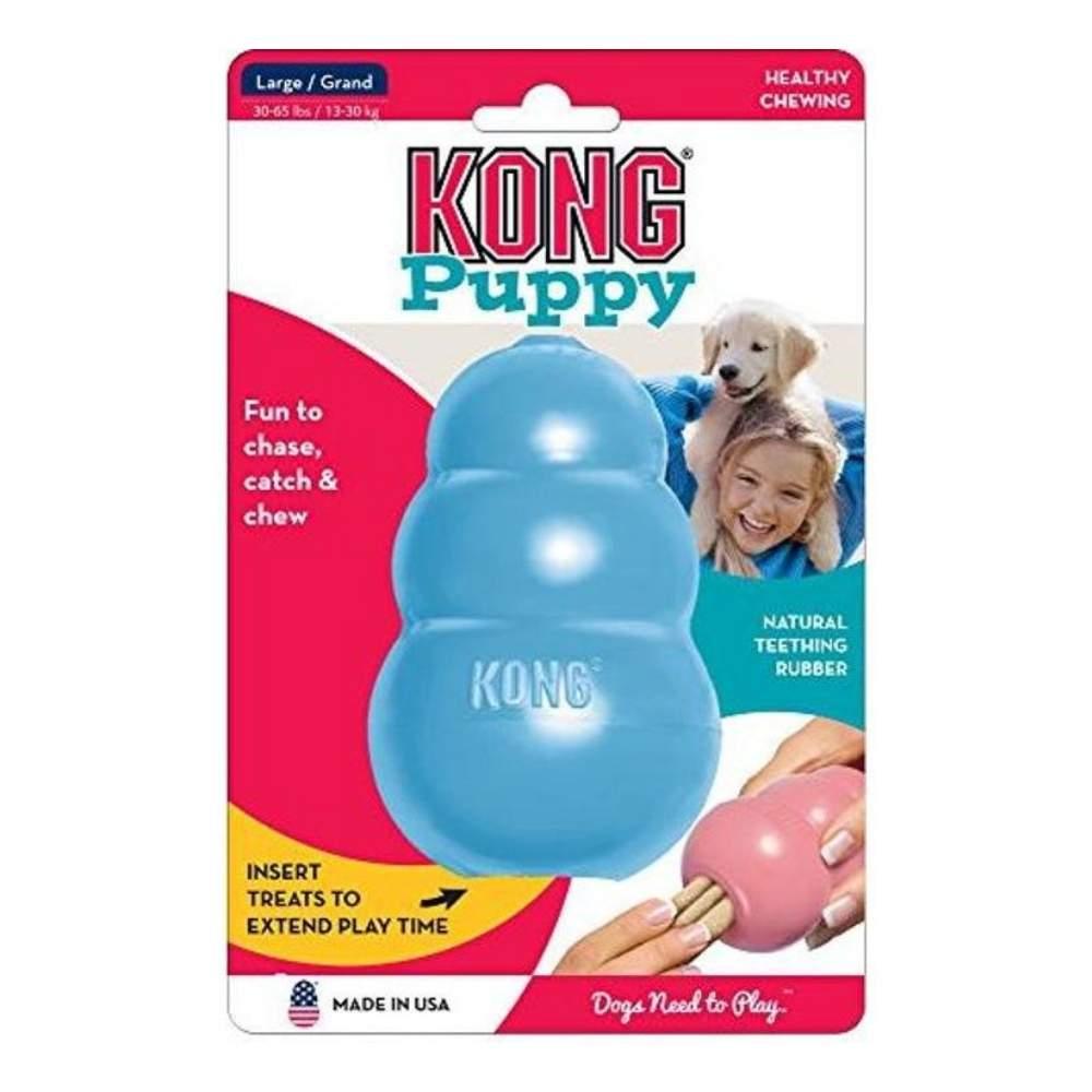 Brinquedo Interativo Kong Puppy Cães Filhotes Dispenser para Ração ou Petisco