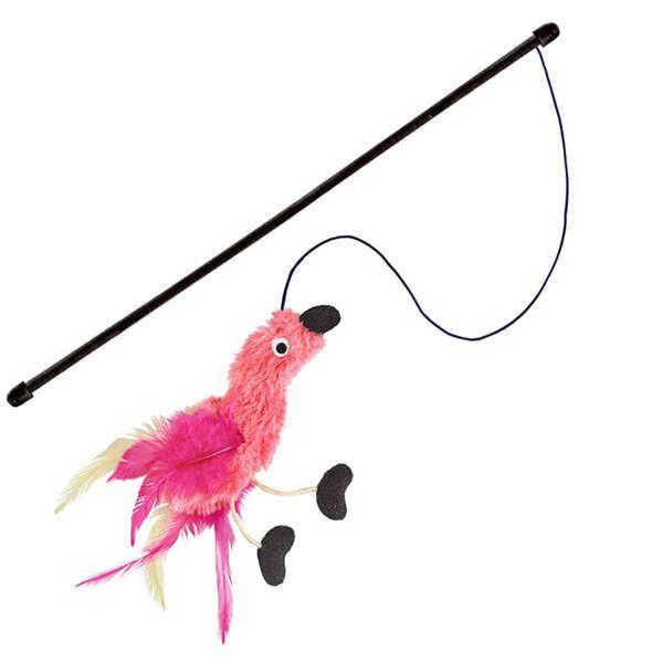 Brinquedo Interativo para Gatos Kong Feather Flamingo de Pelúcia