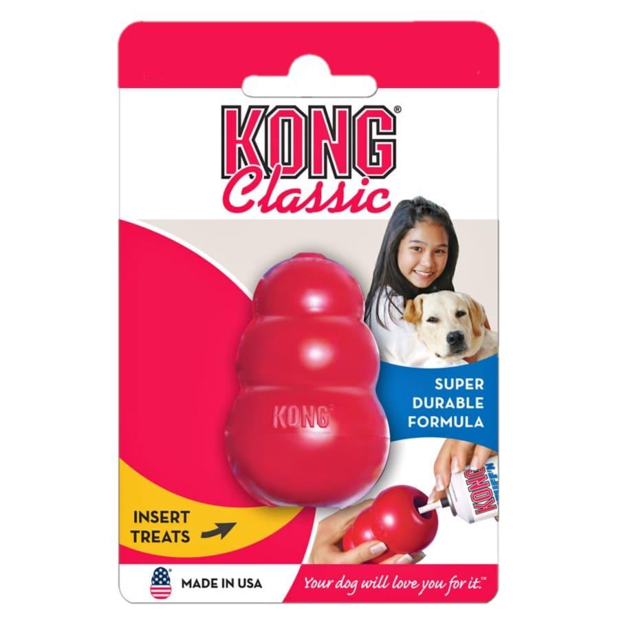 Brinquedo Kong Classic Dispenser Para Ração Petisco Médio
