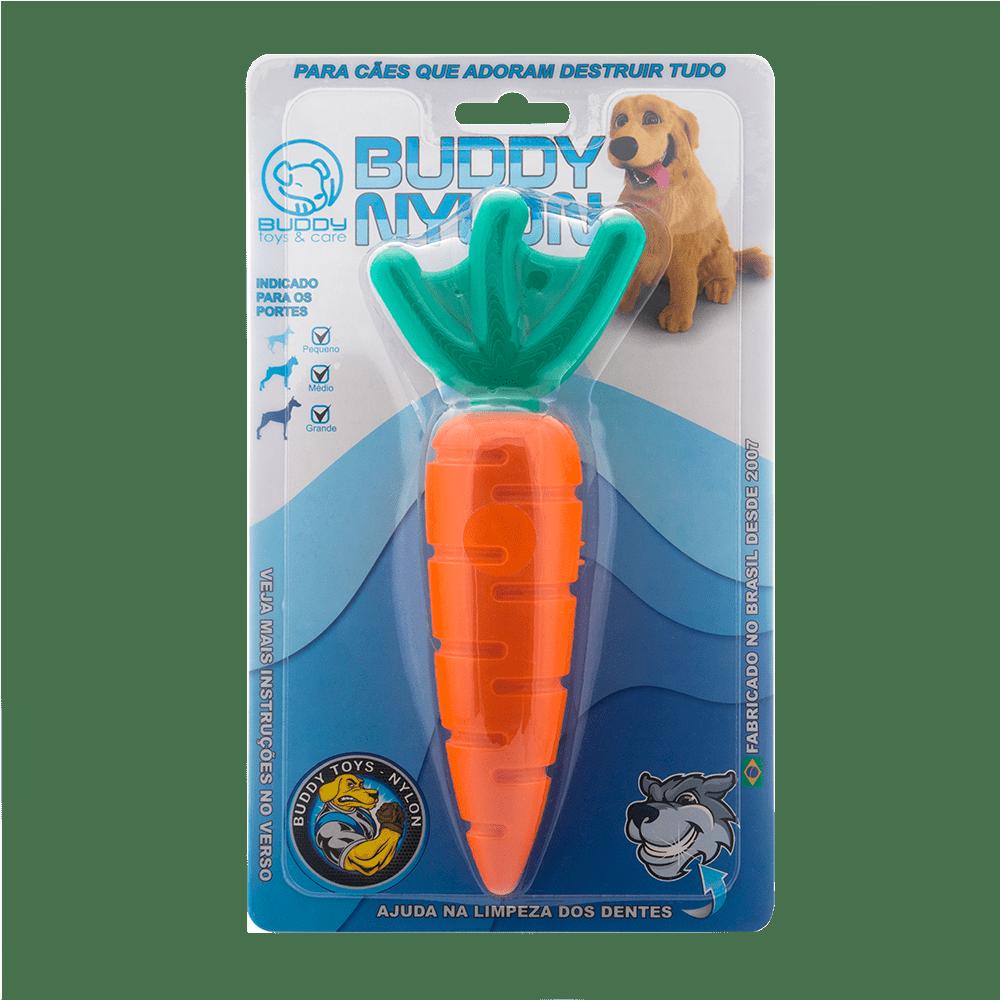 Brinquedo Mordedor Para Cães Buddy Toys Nylon Cenoura