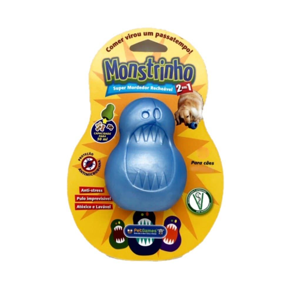 Brinquedo Mordedor Recheável para Cães Pet Games Monstrinho G