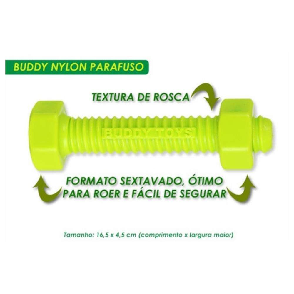 Brinquedo Resistente Para Cães Buddy Toys Nylon Parafuso
