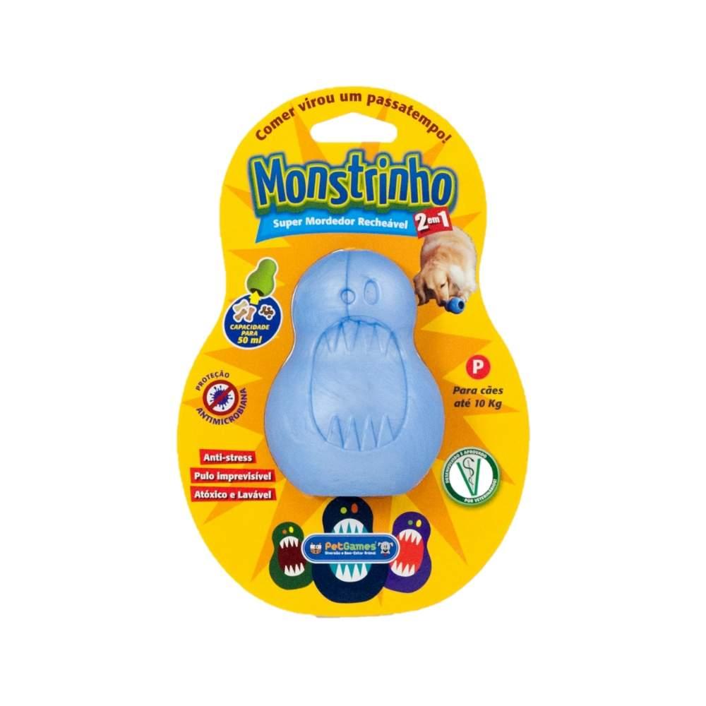 Brinquedo Super Mordedor Recheável PetGames Monstrinho