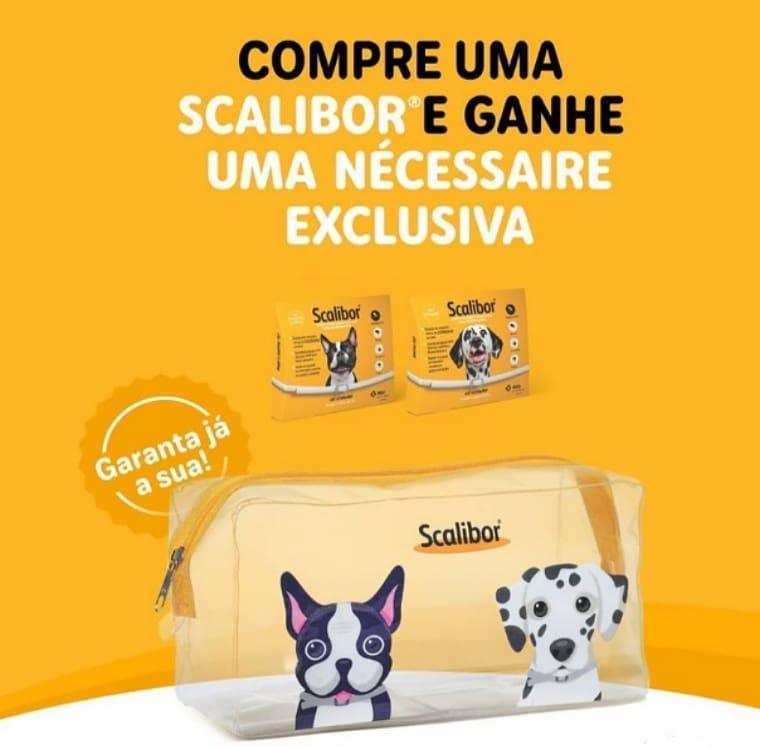 Coleira Antiparasitária para Cães MSD Scalibor 65cm + Brinde Necessaire