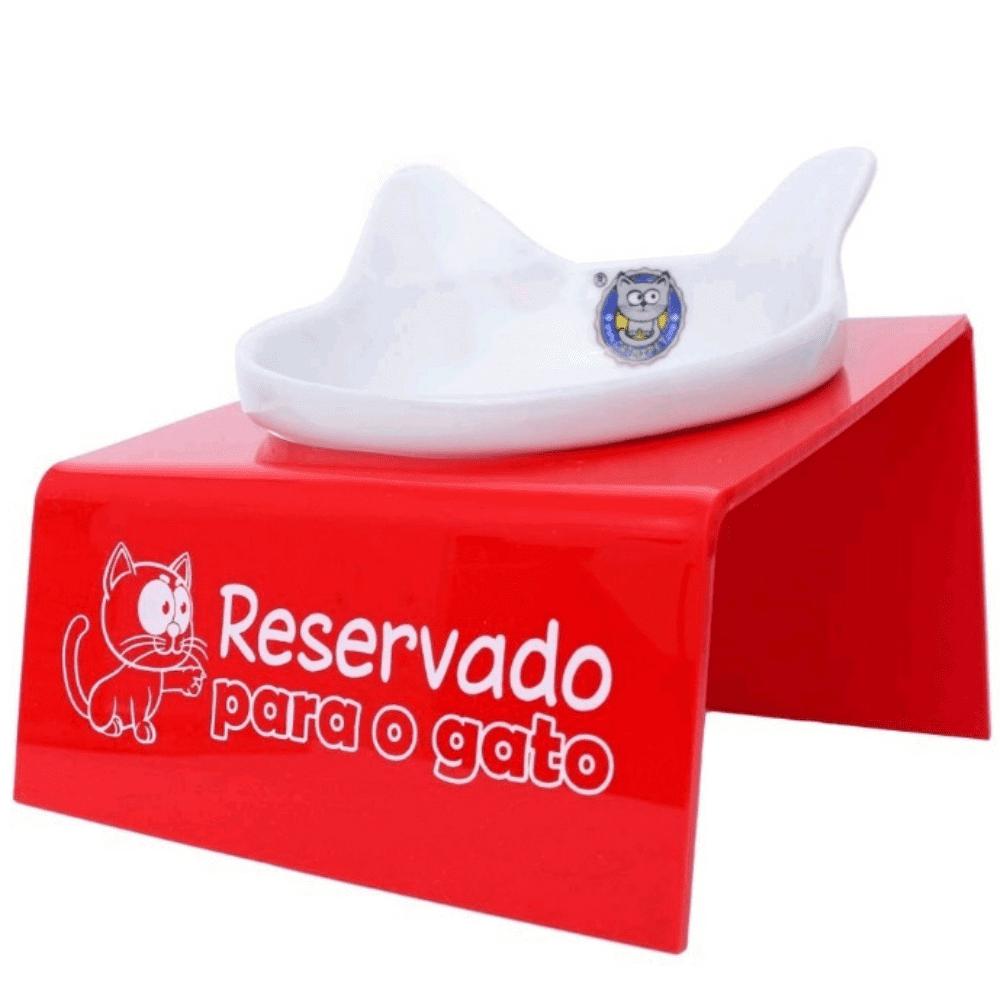 Comedouro de Porcelana Elevado Gato CatMyPet Snack Cat 200ml