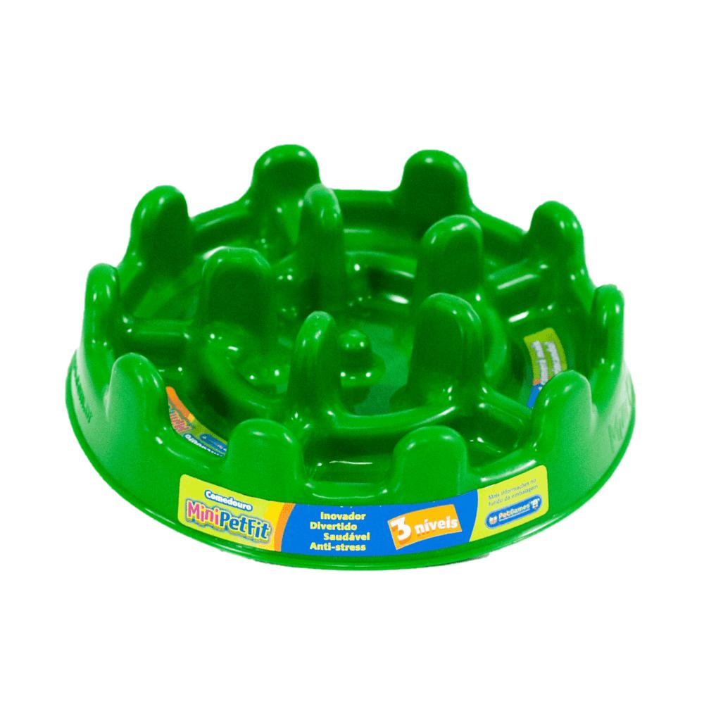Comedouro Funcional Lento Petgames Mini Pet Fit Verde