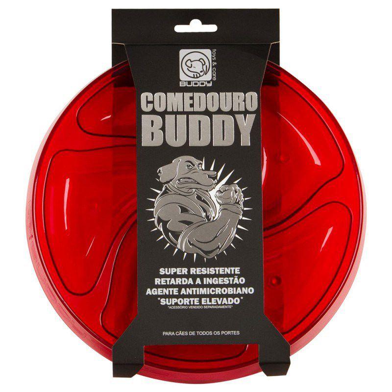 Comedouro Resistente Cães Raças Grandes Buddy Toys + Suporte