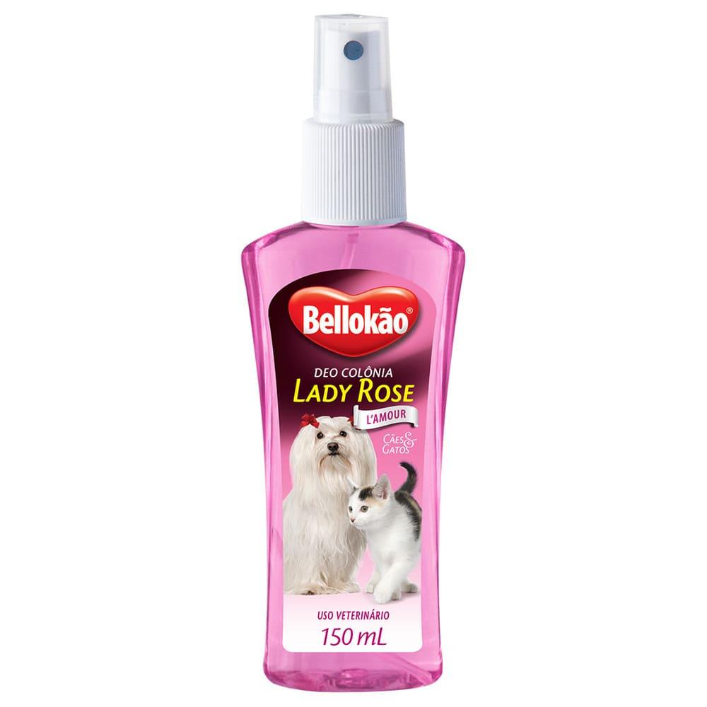 Deo Colônia para Cães e Gatos Bellokão Lady Rose 150ml